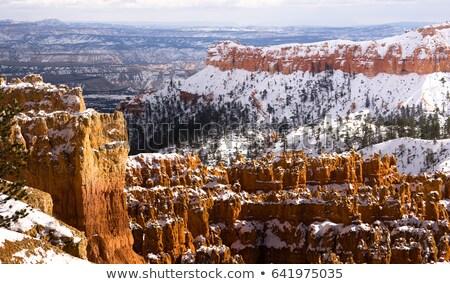 свежие снега каньон рок США поздно Сток-фото © cboswell