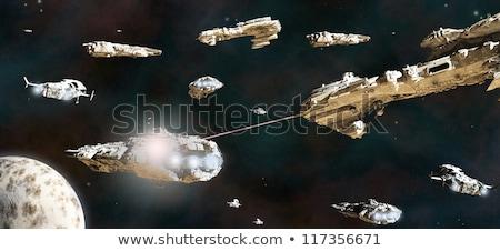 Fütüristik uzay boşluğu savaş pop art Retro teknoloji Stok fotoğraf © studiostoks