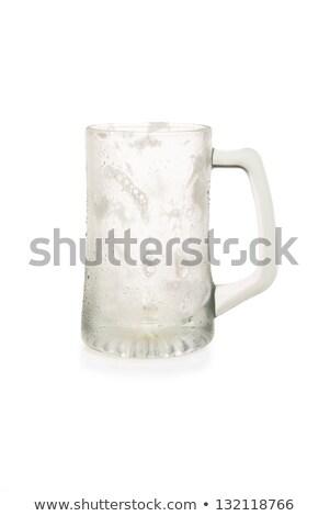 Boş bira kupa yalıtılmış beyaz Stok fotoğraf © Cipariss