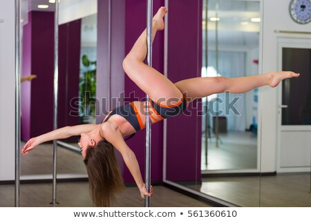 woman traning pole dance Stock photo © chesterf