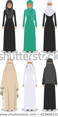 肖像 · ムスリム · 女性 · 白 · ベール · 孤立した - ストックフォト © nikodzhi