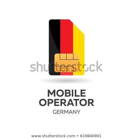 móvel · operador · cartão · bandeira · abstrato · projeto - foto stock © Leo_Edition