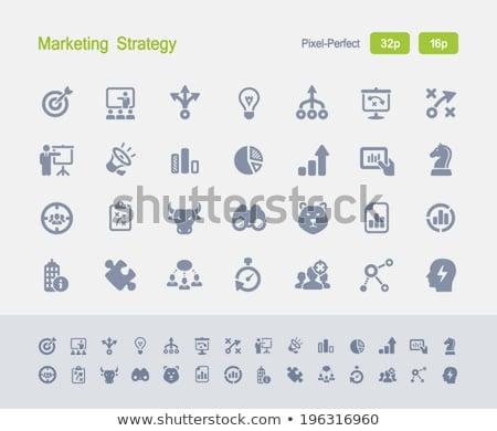 Statistiques granit professionnels icônes pixel Photo stock © micromaniac