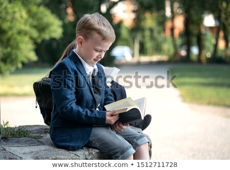elementary school class outside stock photo © monkey_business