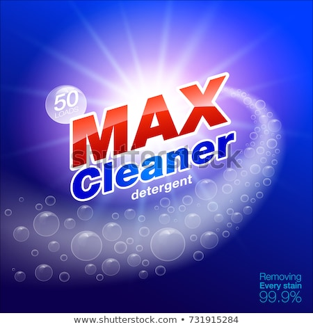 Pouvoir laver détergent poudre emballage modèle de conception Photo stock © SArts