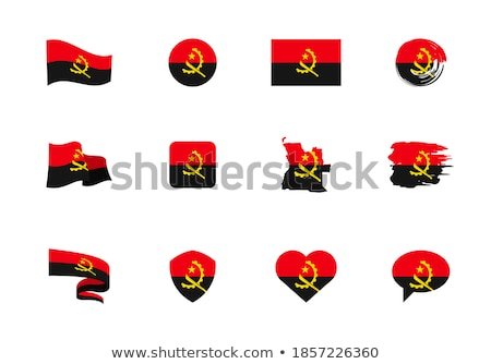 Angola flat heart flag Stock photo © Amplion