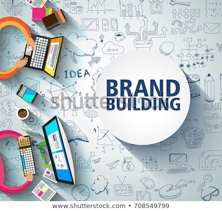 Marca costruzione business doodle design stile Foto d'archivio © DavidArts
