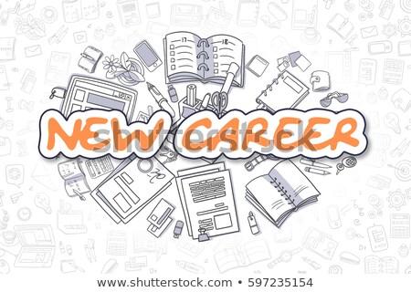 New Career - Doodle Orange Inscription. Business Concept. Stock photo © tashatuvango