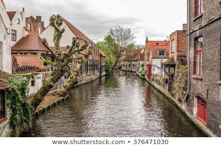 Awesome trees, old houses- classic view of channels Stock photo © artjazz