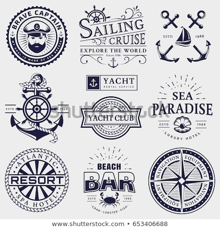 yachting and sailing vintage logo template Stock photo © reftel