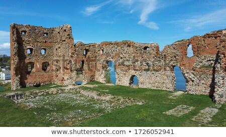 Castelo ruínas medieval parede montanha tijolo Foto stock © skovalsky