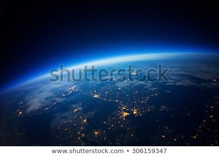 Aarde ruimte zonsopgang communie afbeelding wolken Stockfoto © ixstudio