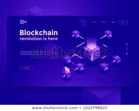 Bitcoin valuta vector ontwerp business netwerk Stockfoto © SArts