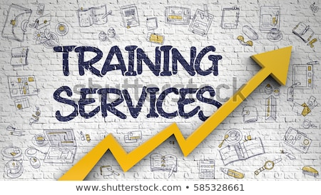 training courses on white brick wall stock photo © tashatuvango