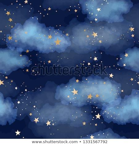 Gouden star wolken helling kind Stockfoto © cammep
