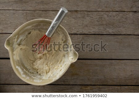 Whisk inside a semi kneaded dough Stock photo © wavebreak_media