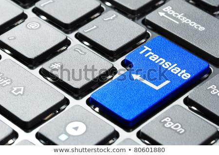 Hand Touching Translate Key. 3D. Stock photo © tashatuvango