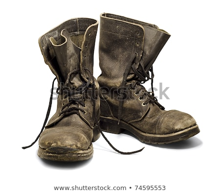 Old worn military boots Stock photo © grafvision