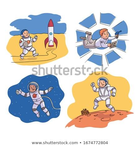 Astronaut ruimteschip Open ruimte kosmonaut Stockfoto © jossdiim
