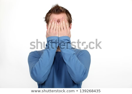 shame and guilt man covering face stock photo © stevanovicigor