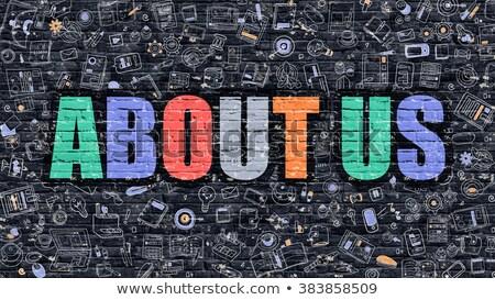 inhoud · witte · muur · doodle · iconen · rond - stockfoto © tashatuvango