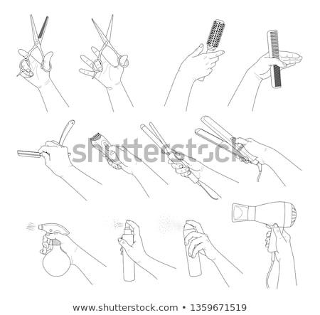 Man holding razor and brush Stock photo © LightFieldStudios