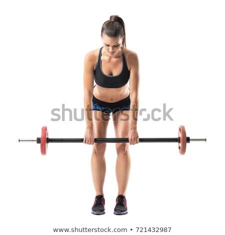 肖像 やる気のある 筋肉の 成人 スポーツウーマン ストックフォト © deandrobot