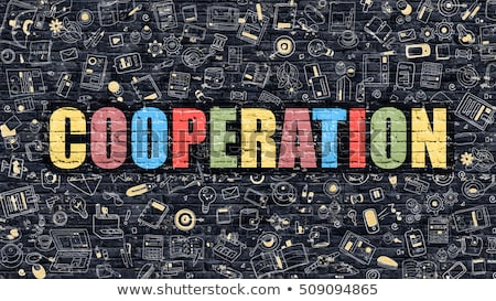 cooperation in multicolor doodle design stock photo © tashatuvango