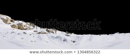 Neige roches paysage froid hiver matin Photo stock © Lightsource