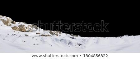 śniegu skał krajobraz zimno zimą rano Zdjęcia stock © Lightsource