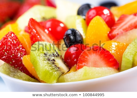 plate and fresh fruit stock photo © m-studio