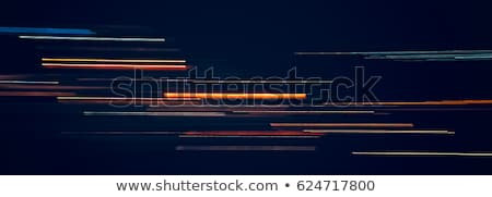 blue light trails abstract pattern stock photo © latent
