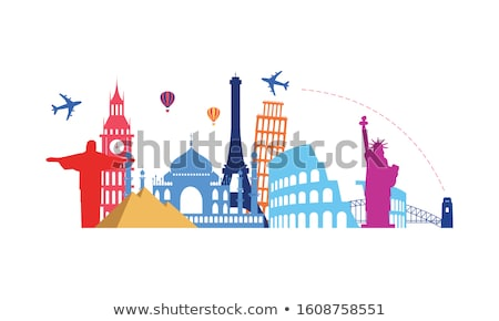 Mexico. Time to Travel. Journey, trip and vacation. Vector travel illustration. Stock photo © Leo_Edition
