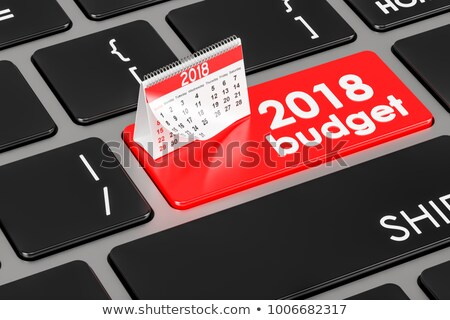 Budget 2018 - Keyboard Key Concept. 3D Render. Stock photo © tashatuvango