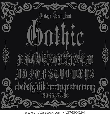 Gótico alfabeto cartas vector fuente Foto stock © Andrei_