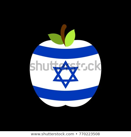 Apple Israel flag. Israeli National Fruit. Vector illustration Stock photo © popaukropa