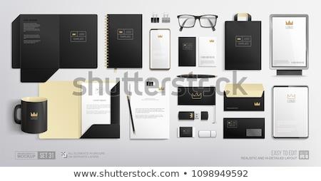 Corporate identiteit ingesteld envelop Maakt een reservekopie Stockfoto © pakete