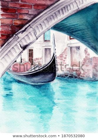 venedik · gondol · geleneksel · kürek · çekme · tekne - stok fotoğraf © oleksandro