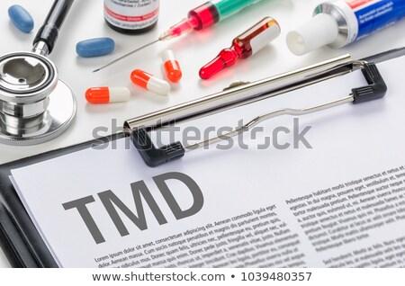 Diagnosi scritto appunti ospedale medicina bocca Foto d'archivio © Zerbor