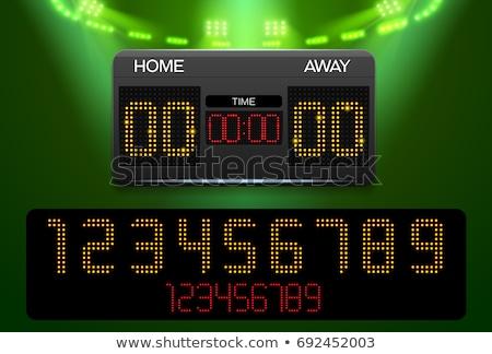 Koszykówki sportowe cyfrowe wynik odizolowany biały Zdjęcia stock © konturvid