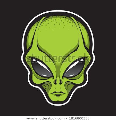 Alienígena cara cabeça vetor imprimir Foto stock © Andrei_