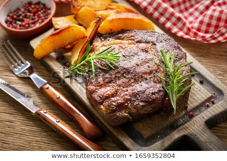 beef with potatoes and peppers Stock photo © Studiotrebuchet