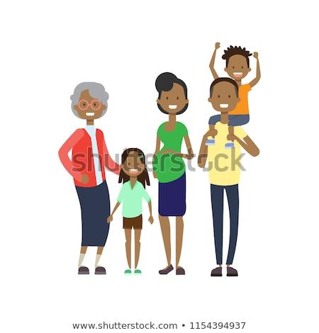 mutlu · Afrika · aile · yalıtılmış - stok fotoğraf © studioworkstock