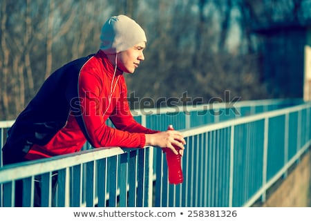 Stock fotó: Ital · energiaital · férfiak · sportok · fitnessz · nyugodt