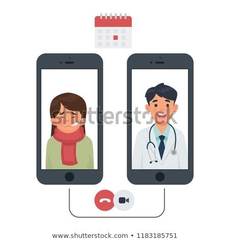aperto · de · mão · médico · paciente · reunião · comunicação · dentista - foto stock © FreeProd