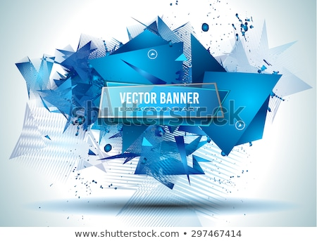 Material design of blue orange colourful abstract vector elements for graphic template. Stock photo © Diamond-Graphics