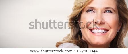Visage heureux souriant personnes émotion Photo stock © dolgachov