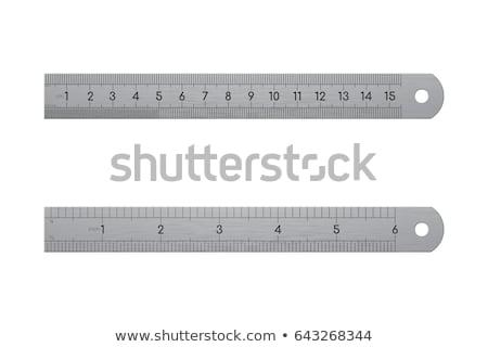 現実的な メタリック 定規 フロント 背面図 詳しい ストックフォト © pakete