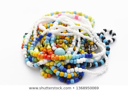 Stock photo: glass beads and bracelet