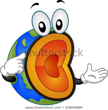 геология земле талисман иллюстрация поперечное сечение Сток-фото © lenm